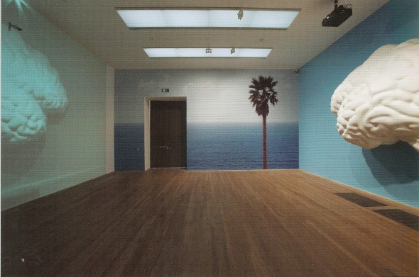 Brain/Cloud (Two Views): With Palm Tree and Seascapes (made especially for the LACMA edition of Pure Beauty). John Baldessari. 2009.