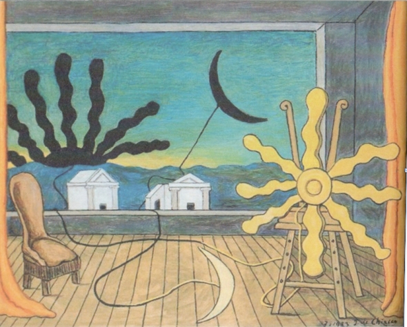 Sun on the Easel. Giorgio De Chirico. 1973.