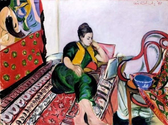 Girl Reading on Sofa. Ceri Richards. 1947.