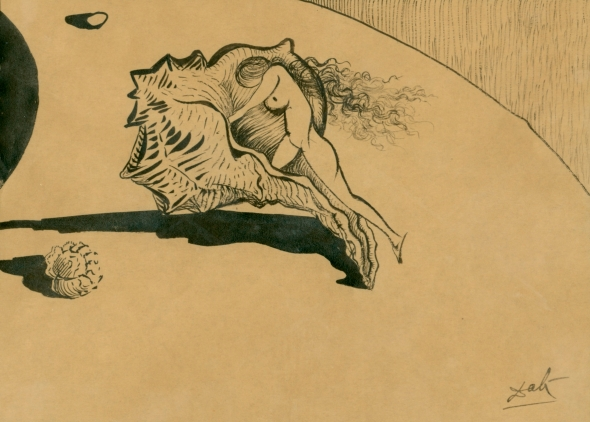 Salvador Dali, Preparatory drawing for short film Destino, In cooperation with Walt Disney,   1946.