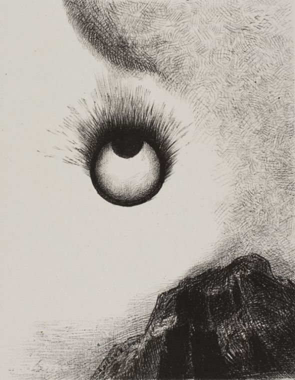 everywhere-eyeballs-are-aflame-1888 Odilon Redon