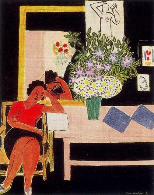 La liseuse sur fond. Henri Matisse.