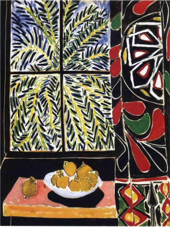 Interior with Egyptian Curtain. Henri Matisse. 1948.
