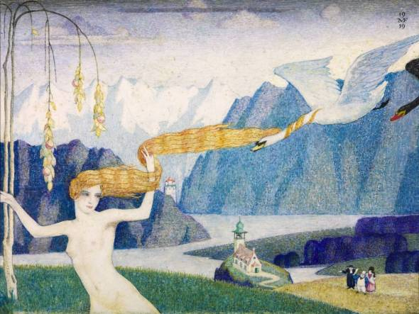 Nude With Flying Swans. Meredith Frampton. 1919.