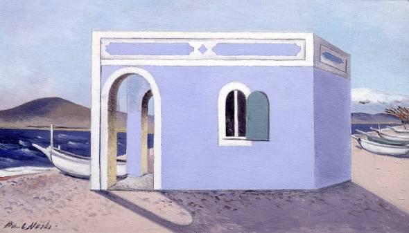 Blue House on the Shore. Paul Nash. 1930-1.