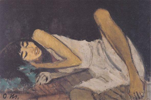 Lying. Otto Mueller. 1926