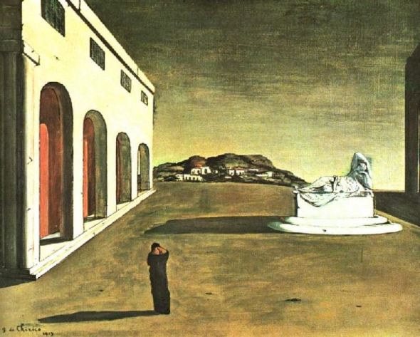 Melancholy of a beautiful day. Giorgio de Chirico. 1913