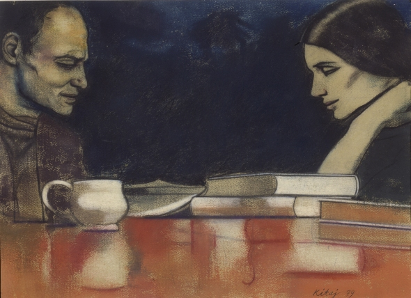 Two London Painters (Frank Auerbach and Sandra Fisher). R. B. Kitaj. 1979