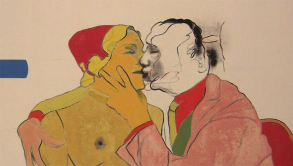 Where the Railroad Leaves the Sea. R. B. Kitaj. 1964.