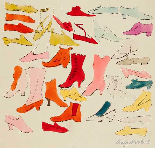 A La Recherche Du Shoe Perdu (The Search for the Lost Shoe). Andy Warhol, caption by Ralph Pomeroy. 1955.