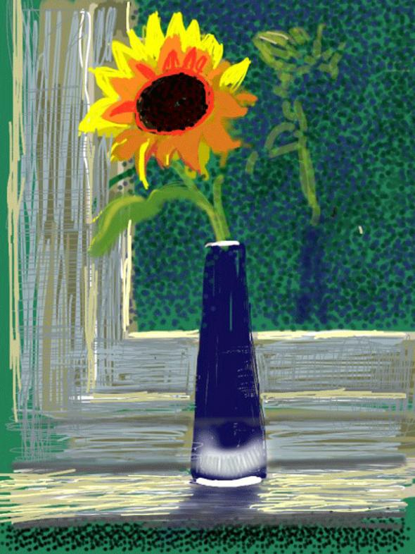 Untitled iPad drawing. David Hockney.