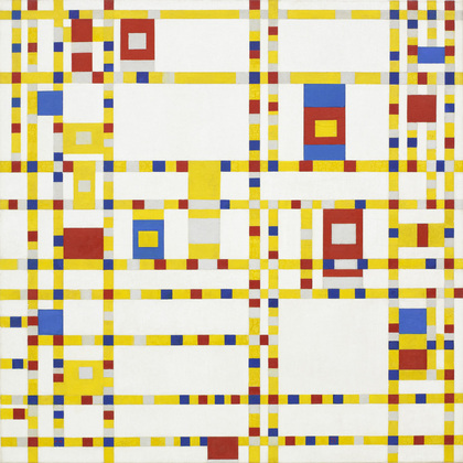 Broadway Boogie Woogie. Piet Mondrian .1942-3.