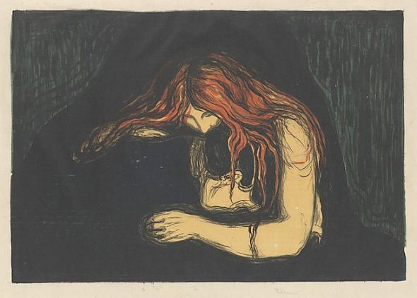 Vampire II. Edvard Munch.