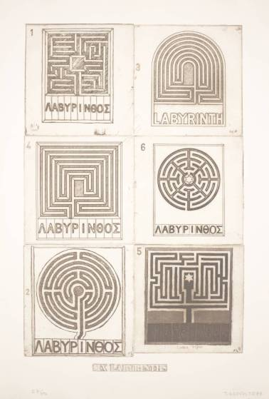 Six Labyrinths. Joe Tilson. 1976.
