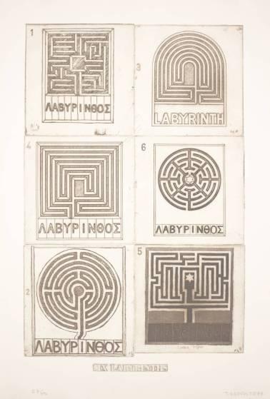 Six Labyrinths. Joe Tilson. 1976.