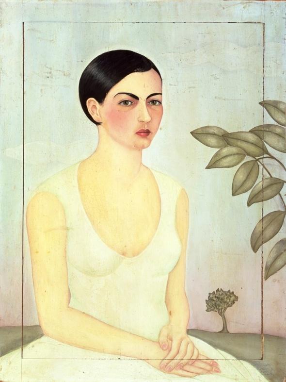 Dama de Blanco. Frida Kahlo. 1928.