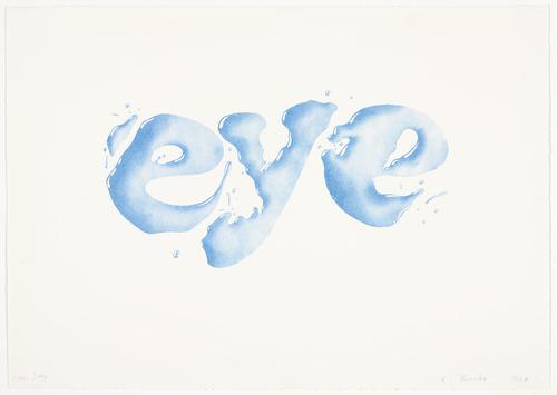 Eye. Edward Ruscha. 1969.