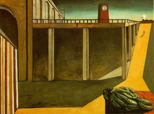 Gare Montparnasse (The Melancholy of Departure). Giorgio de Chirico. 1914.