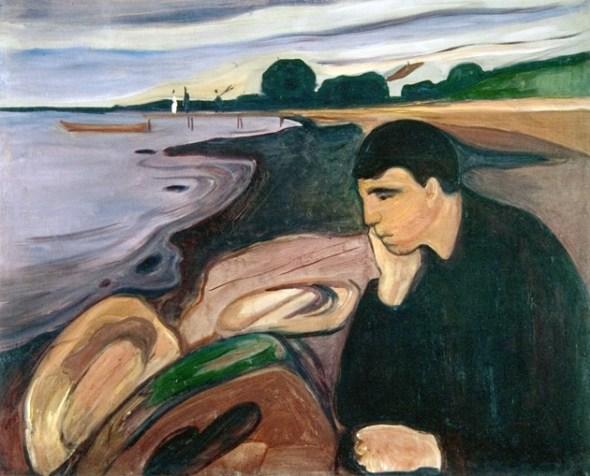 Melancholy. Edvard Munch. 1894-96.