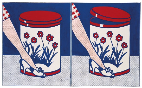 Step On Can With Leg. Roy Lichtenstein. 1961.