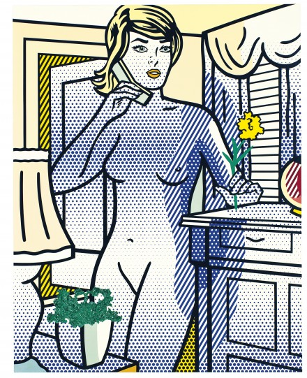 Roy Lichtenstein, Nude with Yellow Flower (1994)