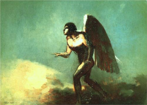 Winged Man The Fallen Angel Odilon Redon