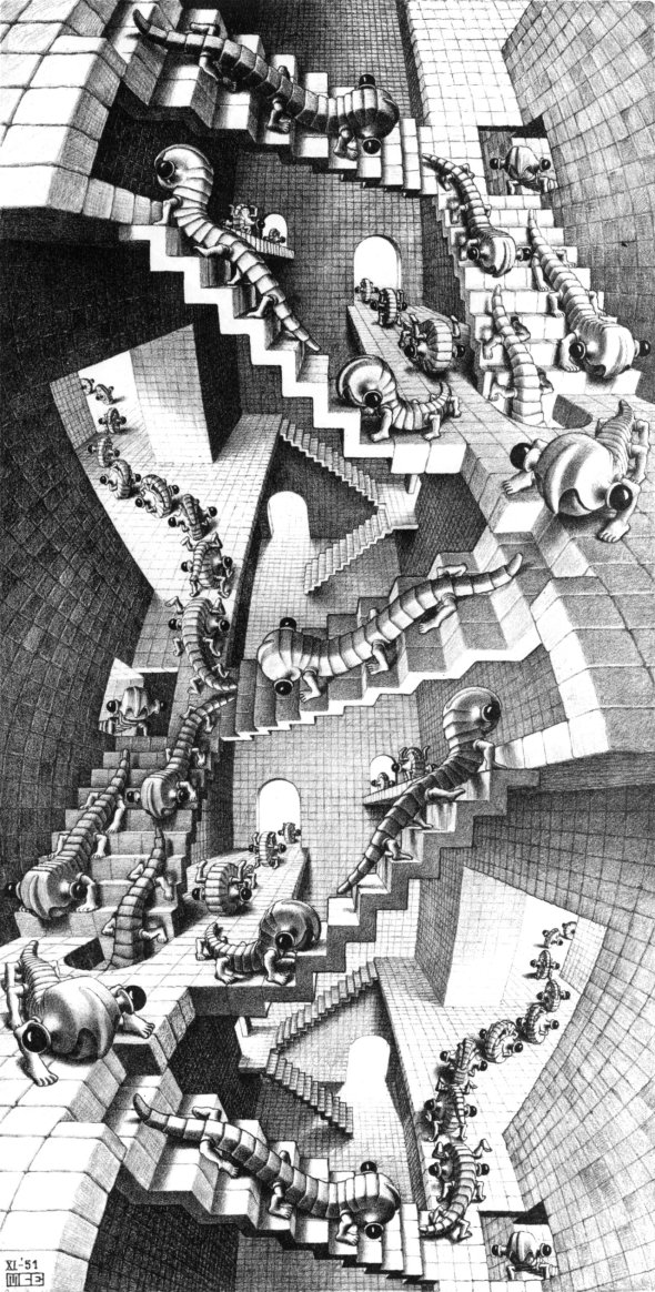 House of Stairs. Escher. 1953.