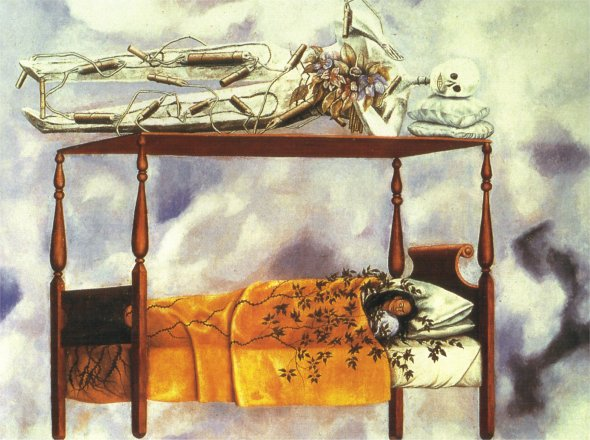 The Dream (The Bed). Frida Kahlo. 1940.