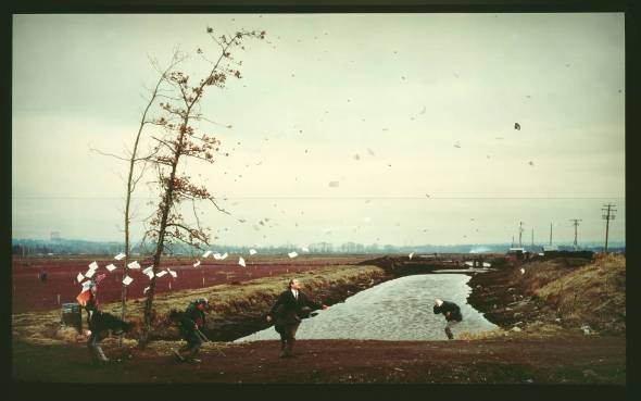 A Sudden Gust of Wind (after Hokusai).  Jeff Wall. 1993. Transparency on Light Box.