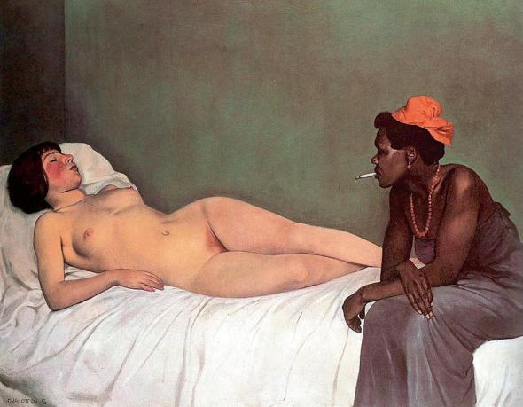 The Black and The White. Felix Vallotton. 1919