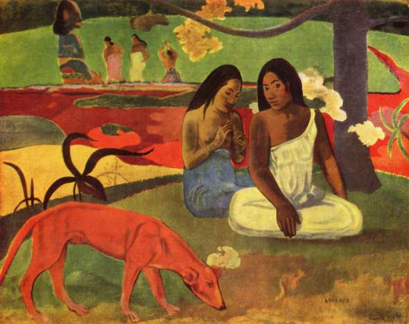 Arearea (joyfulness). Paul Gauguin. 1982.