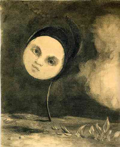 Head on a Stem. Odilon Redon.