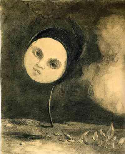 Head on a Stem. Odilon Redon.