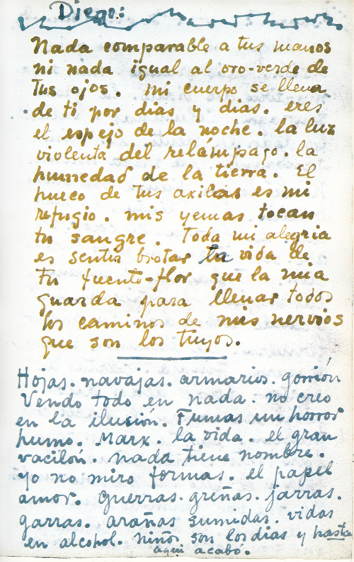 Letter to Diego Rivera from Frida Kahlo from The Diary of Frida Kahlo: An Intimate Self-Portrait