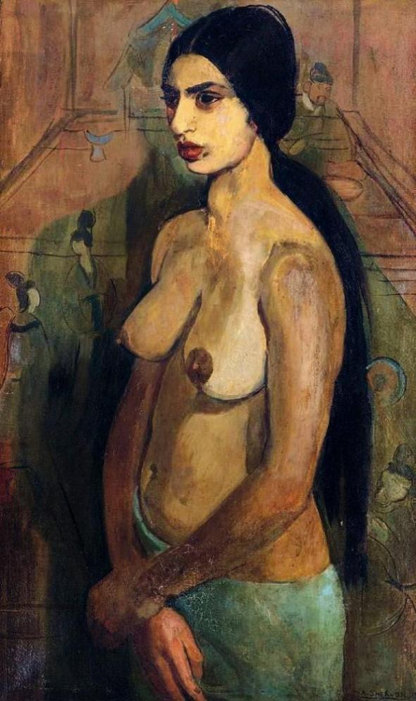 Self Portrait. Amrita Sher Gil