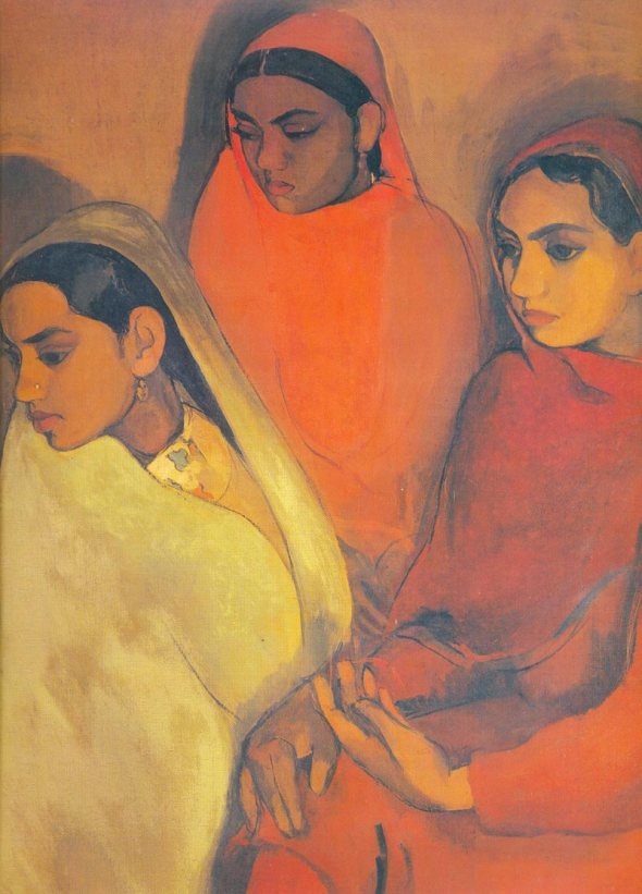 Three Girls. Amrita Sher-Gil