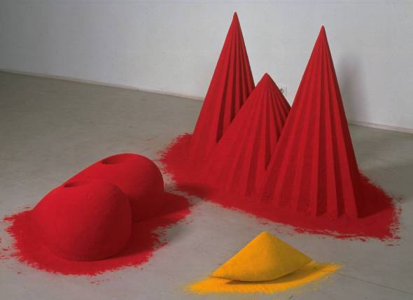 As if to Celebrate, I Discovered a Mountain Blooming with Red Flowers. Anish Kapoor. 1981