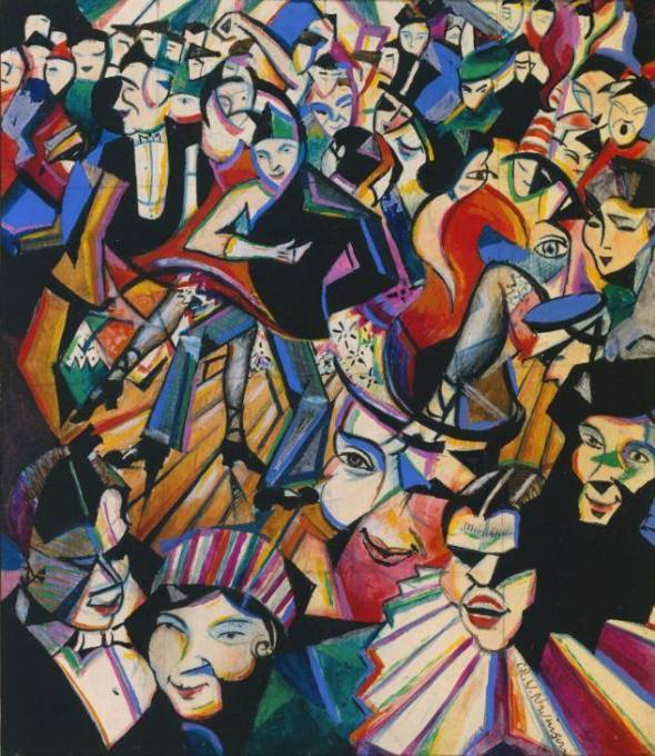 Dance Hall Scene. Christopher Richard Wynne Nevinson. c. 1913-14