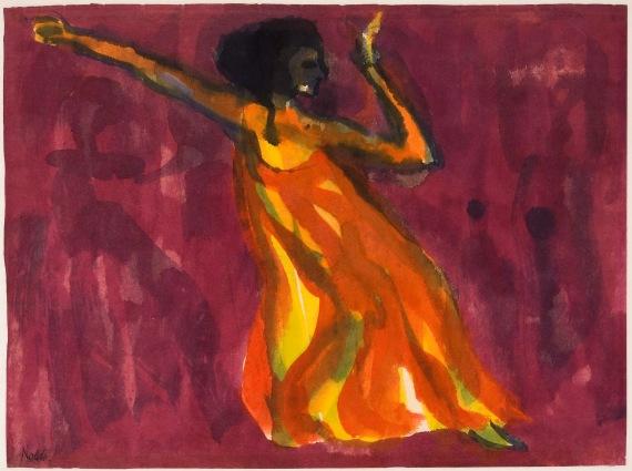 Emil Nolde, Tänzerin (dancer), ca. 1920-1925