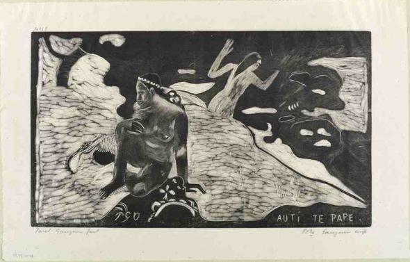 Noa Noa Te Pape. Paul Gauguin. 1894-95.