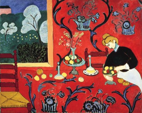 the dessert, harmony in red, matisse