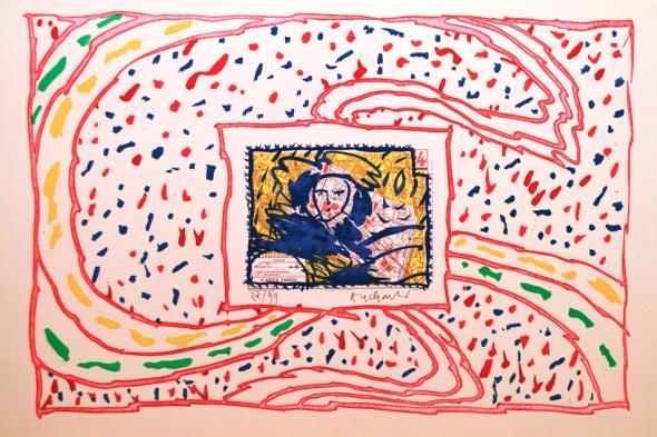 Dame Taride. Pierre Alechinsky. 1989.