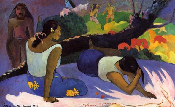 Reclining Tahitian Women. Paul Gauguin. 1894