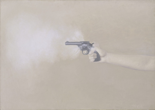 Gun With Hand #1. Vija Celmins, 1964