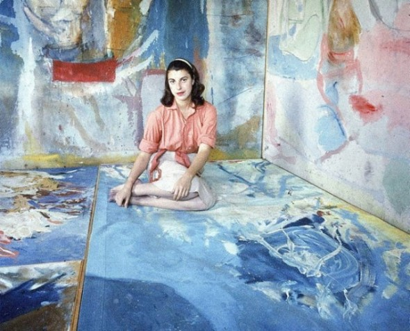 Helen Frankenthaler sitting amidst her art in her New York City studio. Photographed by Gordon Parks for LIFE magazine ca. 1956 2
