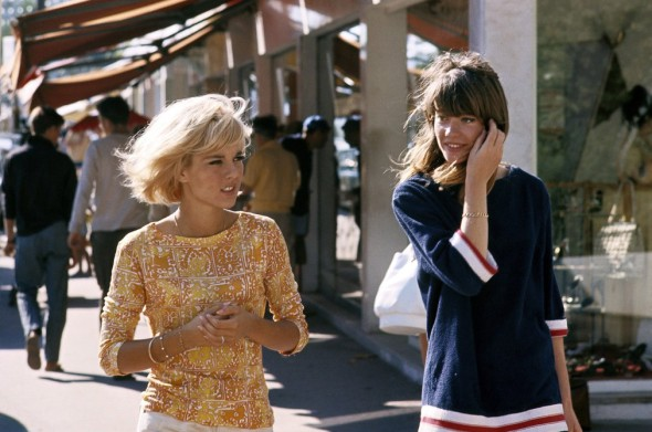 Sylvie Vartan and Françoise Hardy photo by Jean Marie Perier