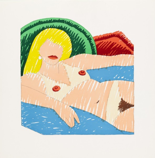 Tom Wesselmann Shiny Nude from the Rubber Stamp Portfolio 1977