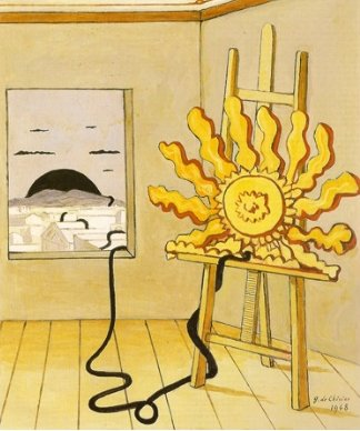 Sun on the Easel, 1968 Giorgio de chirico